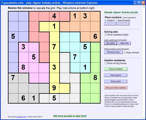 how to solve jigsaw sudoku puzzles