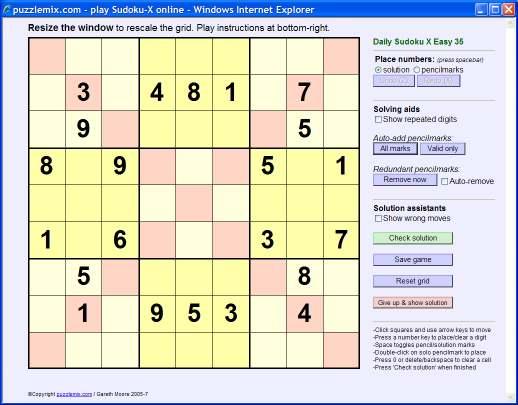 puzzlemix com: How to solve Sudoku-X puzzles